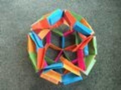Origami - modular - actino origami - flexiball - tutorial -dutchpapergirl