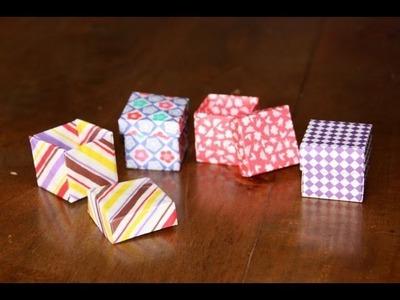 Origami tutorial - Cubic box