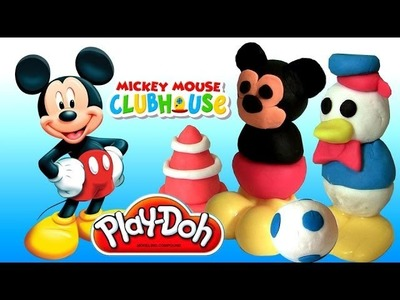 Play Doh Donald Duck & Mickey Makeables Set 2014 Mickey Mouse Clubhouse Disneyplaydough