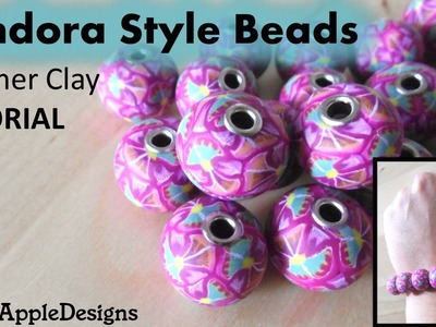 Polymer Clay Pandora Style Beads Tutorial