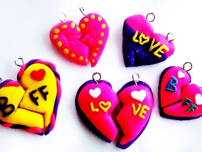 Polymer Clay Tutorial BFF. Heart Charm (DIY How to Make Tutorial)