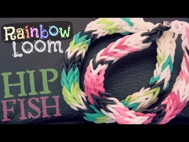 Rainbow Loom : Half Inverted Double Cross Fishtail - How To - HIP Fish