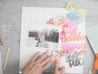 Scrapbooking tutorial: A Teen's life by Wilna