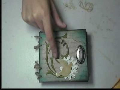 Scrapbooking with Marion grungeboard mini album kit