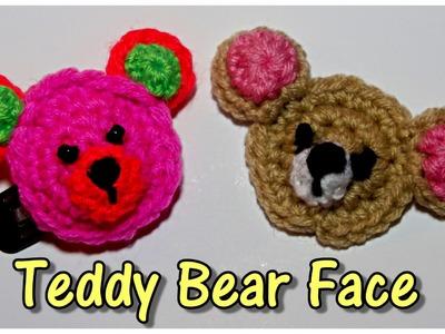 Teddy Bear Face Applique - Crochet Along Tutorial!