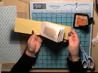 Toilet Roll Mini Scrapbook Album Tutorial with a Hinge System