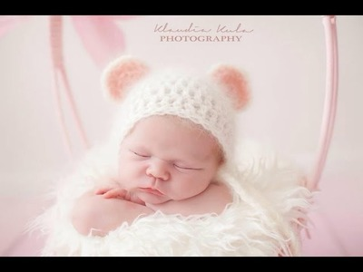 Tutorial HOW TO CROCHET baby mouse hat ,easy beginner pattern