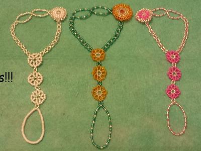 Tutorial. Sunflower, daisy, slave bracelet. Beaded fastening.