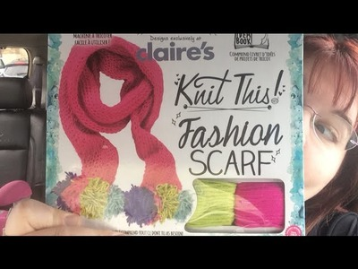 Unboxing   Fashion Scarf Loom Knit kit