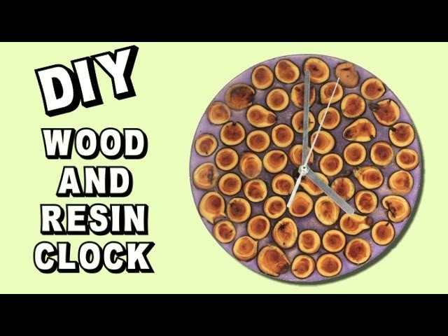 Wood and Resin Clock DIY   Collaboration with Crafterzdelights!