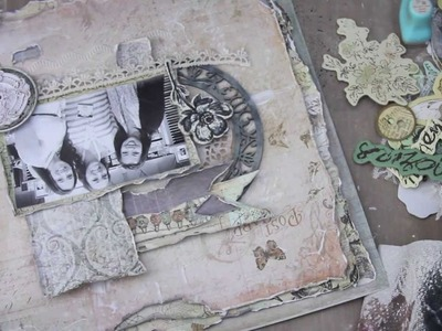 12x12 scrapbook layout. Prima Nature Garden layout tutorial.