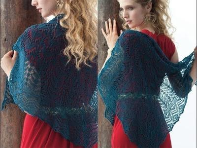 #6 Turquoise Lace Shawl, Vogue Knitting Holiday 2013