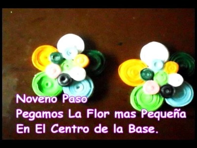 Aretes de Filigrana Fotos. how to make colorfull earrings quilling