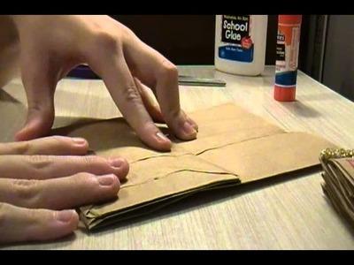 Brown Paper Bag Scrapbook Tutorial
