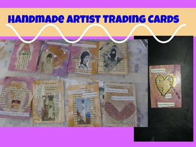 Butterfly ATC'S  Cards Tutorial. Artist Trading Cards for Beginners.How to make ATC cards