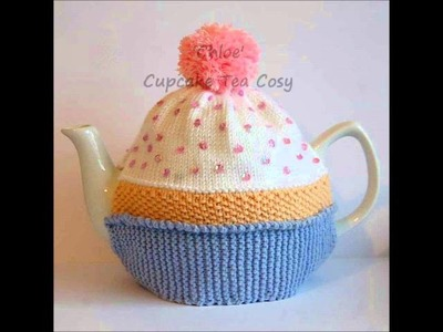Chloe Cupcake Bithday Cake Vintage DK Yarn Teapot Tea Room Cosy Knitting Pattern