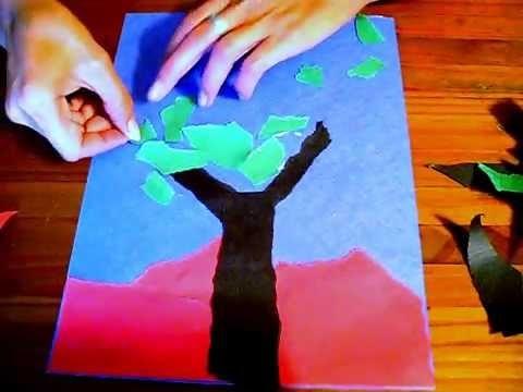 Construction Paper Tearing Lesson: Precutting Preschool Art