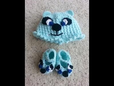 Crochet Bear Matching Baby Booties DIY Tutorial