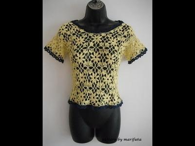 Crochet flower blouse