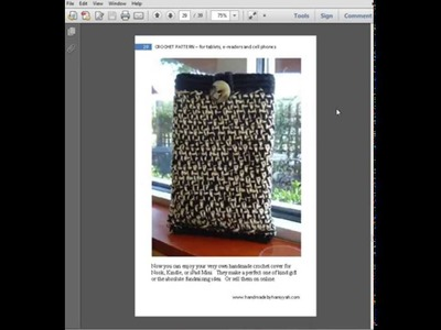 Crochet Patterns for Tablets e-Readers and Cell Phones