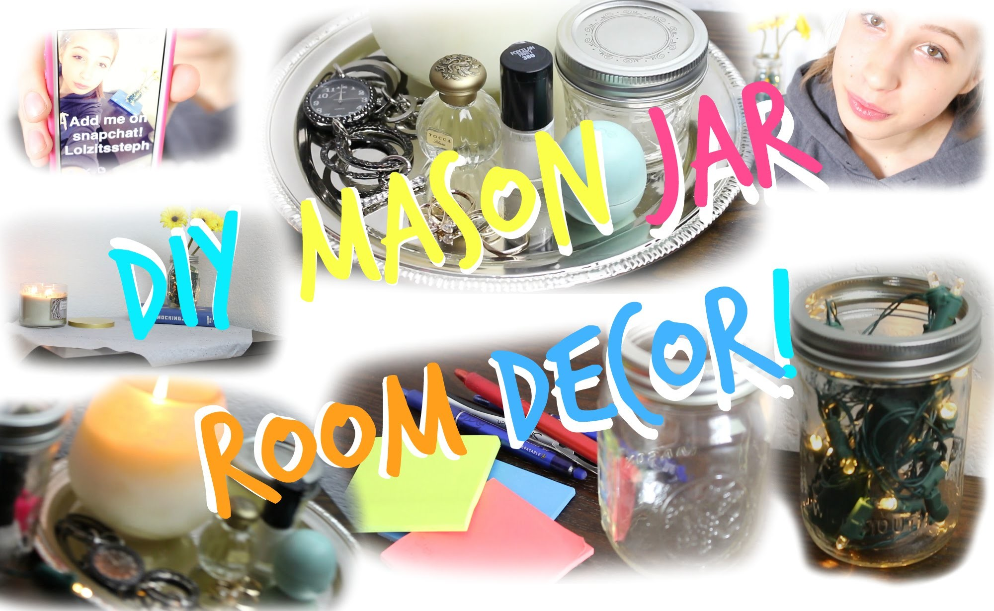 DIY: 7 Cute and Easy Mason Jar Room Decor!
