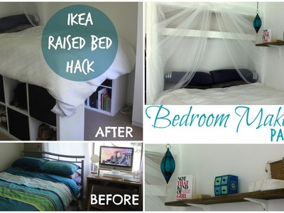 DIY Bedroom Makeover Part 1- Ikea Hack raised bed  | Chelsea Mason