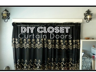 DIY Closet Curtain Doors │ Cheap Easy Room Decor