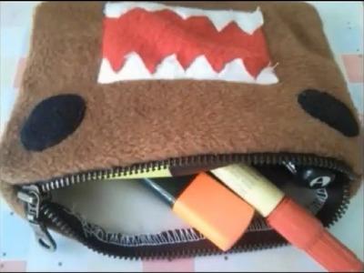 DIY: DOMO pencil case tutorial (a sewing project)