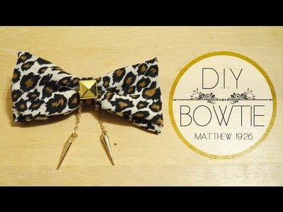 DIY: How to Make a Bow Tie from Shoulder Pads