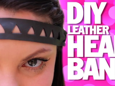 DIY LEATHER HEADBAND!   Summer Festival Fashion Threadbanger