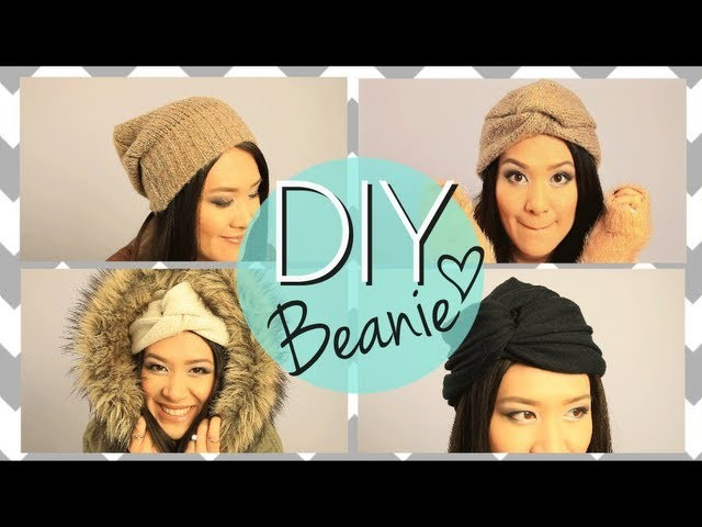 DIY No Sew Cute Beanie Boho Twisted Hat {EASY How to Make}