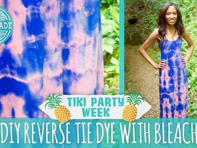 DIY Reverse Tie Dye with Bleach - Tiki Party Week - HGTV Handmade