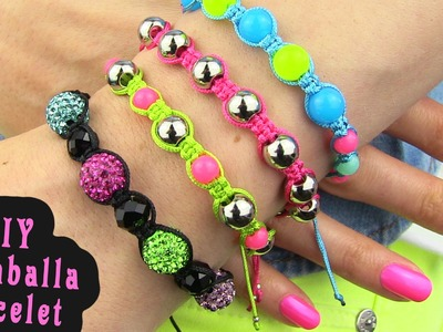 DIY Shamballa Bracelet! How To Make Macrame Bracelets