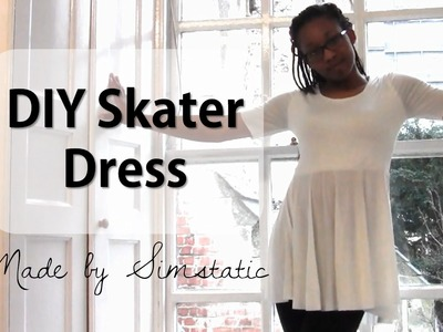 DIY Skater Dress with Sleeves