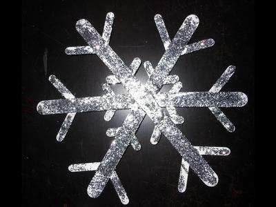 DIY: Snowflake Wall Decorations ♡ Theeasydiy #RoomDecor