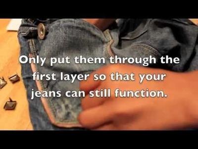 DIY - Studded Denim Jeans