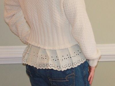 DIY Sweater Refashioning Easy Sewing Project