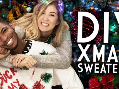 DIY Ugly Christmas Sweaters with KINGSLEY and Meghan Rosette!