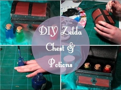 DIY Zelda Chest and Potions | JadeJonesArt