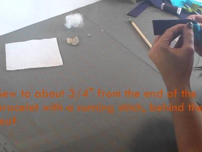 Flower Power Bracelet: Electronic Sewing Tutorial