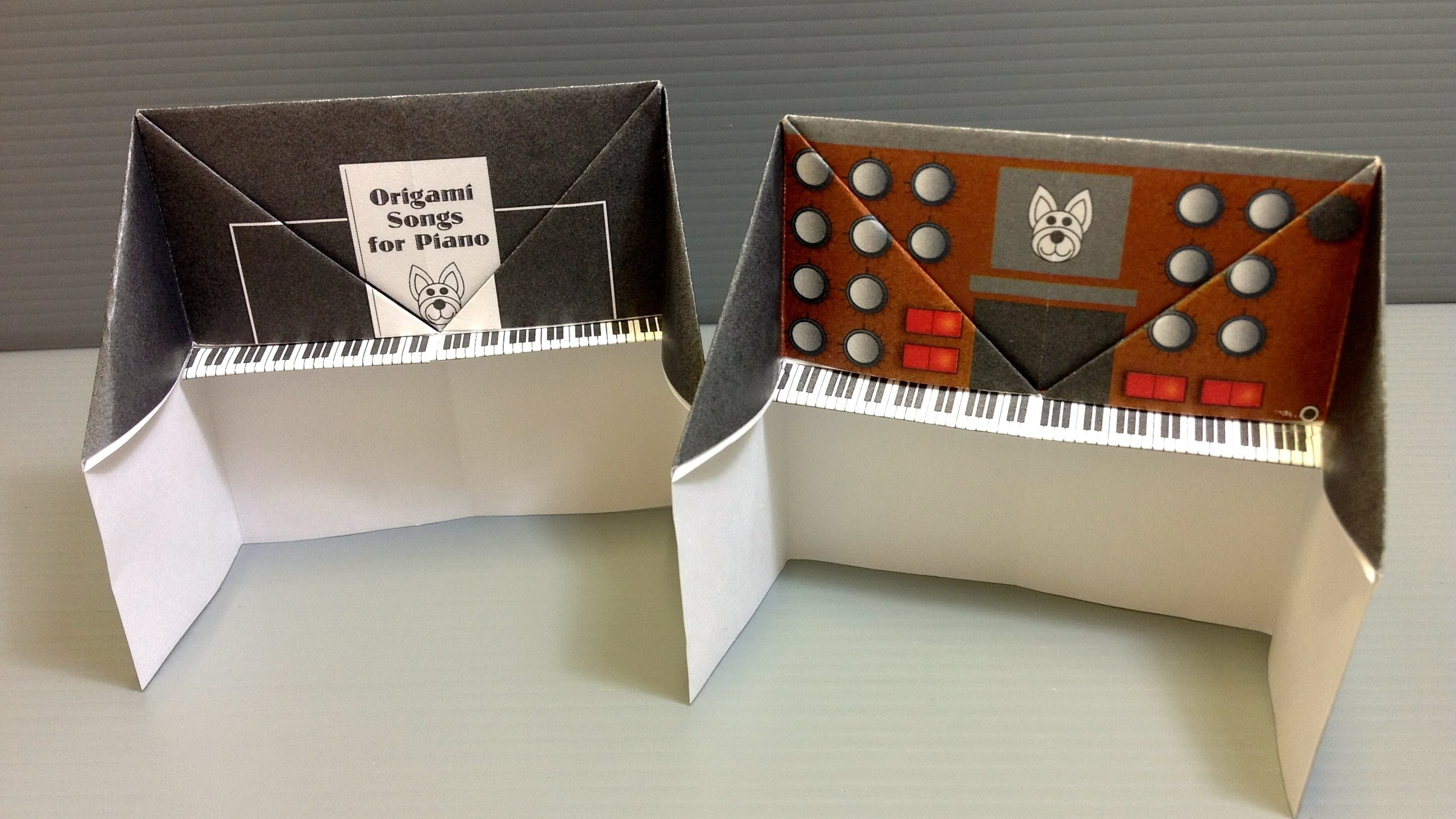 free origami piano paper print your own piano and synthesizer
