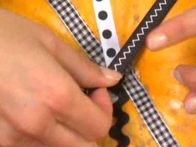 Halloween Crafts - No-Carve Pumpkin Using Ribbons