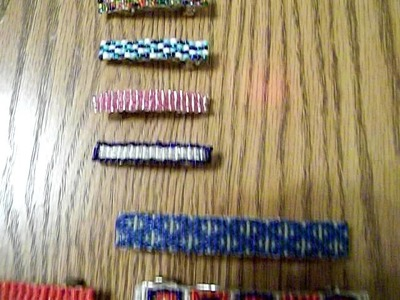 Hand Crafted beaded barrettes