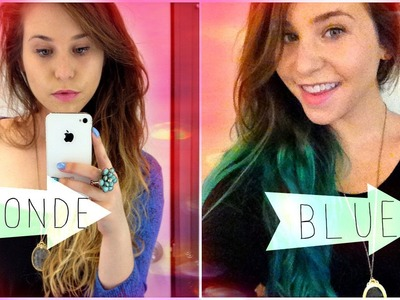 How To: Blue.Turquoise Ombre Hair Tutorial DIY