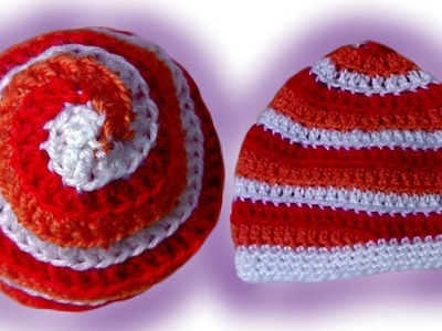 How to crochet a spiral hat beanie