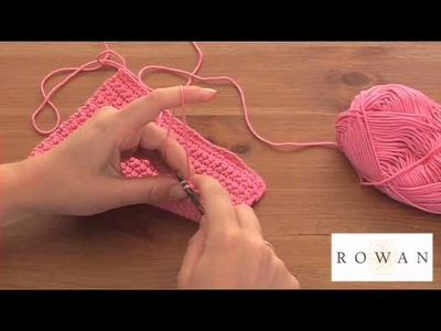 How to Crochet: double crochet, with Rowan Yarns and The Dropped Stitch