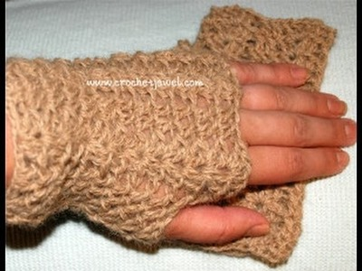 How to Crochet Finger less Gloves Tutorial Part I