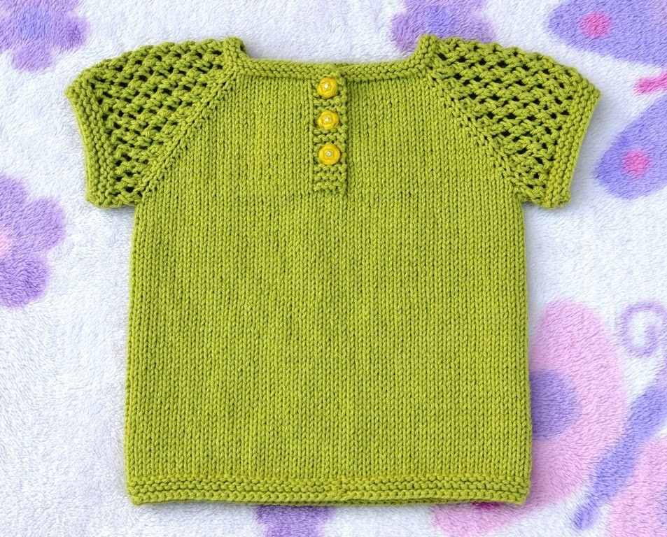 How to Knit Three-Buttons Sun Top Part 1