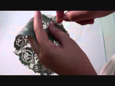 How to make a flower lace for a headband Part 1
