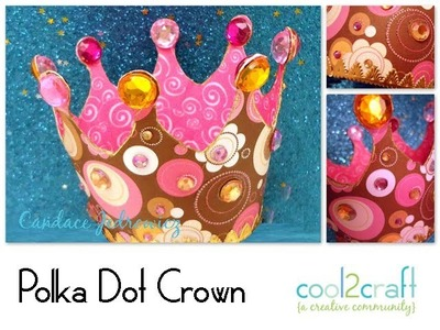 How to Make a Polka Dot Crown by Candace Jedrowicz